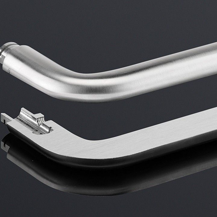 Solid lever handle Ø16mm, with metallic rose RB08M