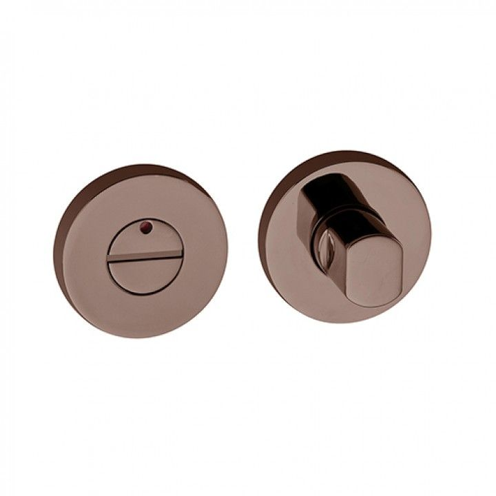 Bathroom snib indicator with or without color indication - Polished