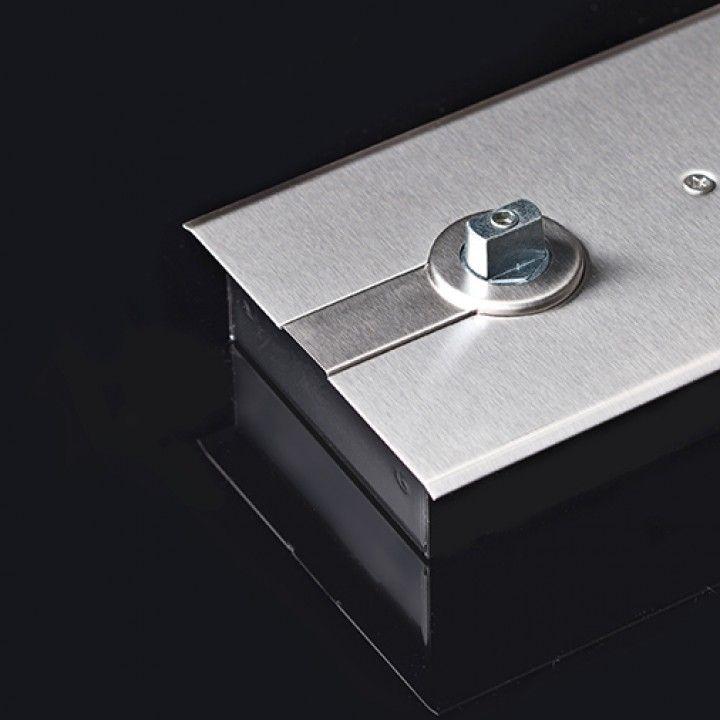 Rectangular spindle 21x11,6mm, for floor door closer