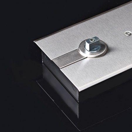Quadra rectangular 21x11,6mm, para mola de pavimento