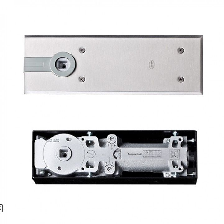 Floor door closer without hold open at 90º- for doors up to 200Kg