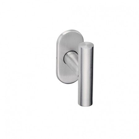 Lever handle with Oval metallic rose 4mm - CC50mm