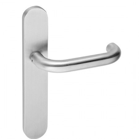 Plate for european cylinder with spring - 225 x 43mm with lever handle IN00028BSR