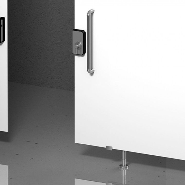 Bathroom snib indicator with or without color indication
