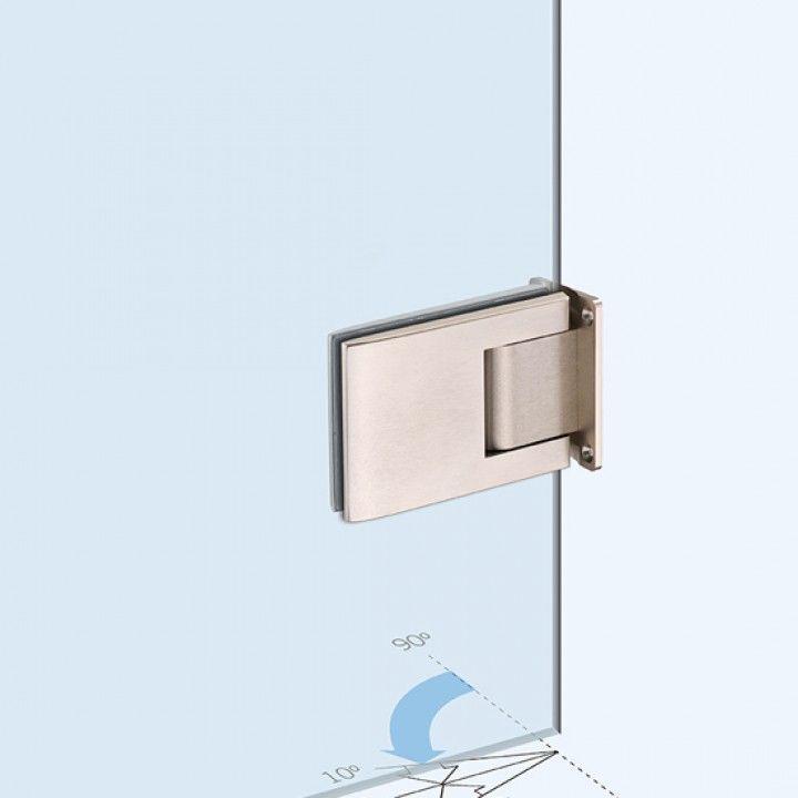 Dobradiça hidráulica parede-vidro