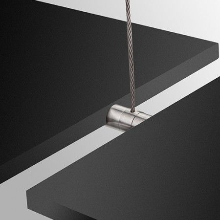 Double wire support for wood