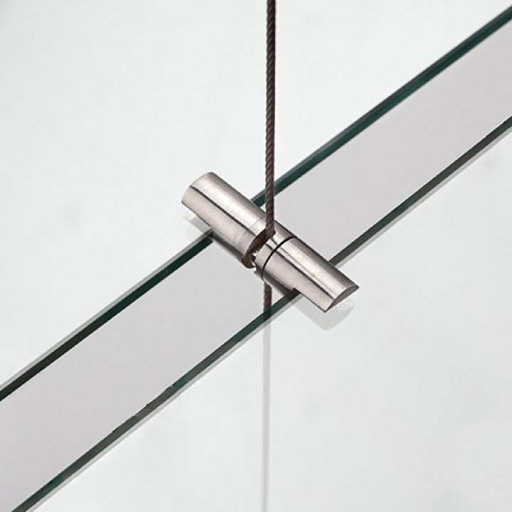 Double wire support for glass