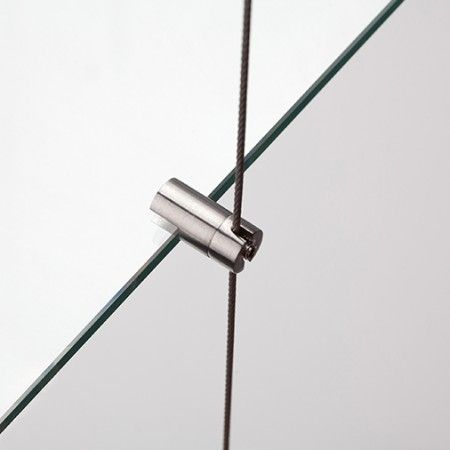 Wire support for glass