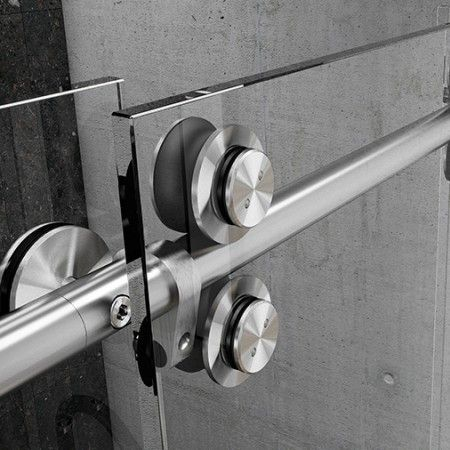 Set of wheels for glass sliding doors Clear system - Ø25mm