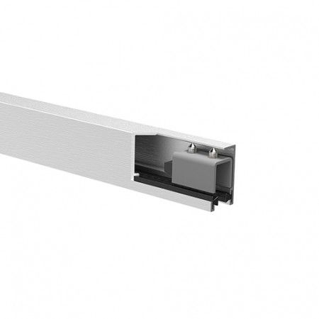 Aluminium upper track with stoppers For 10mm glass - 3000mm