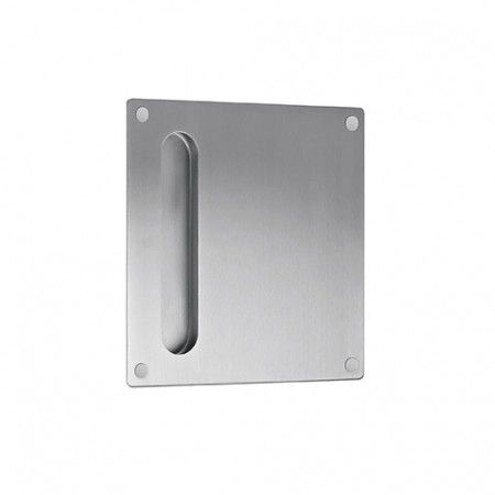 Plate 180 x 180mm with flush handle