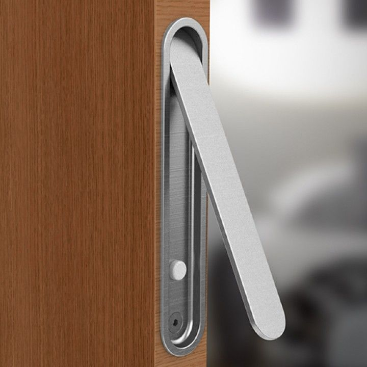 Oval Flush handle with lever - 155x30mm