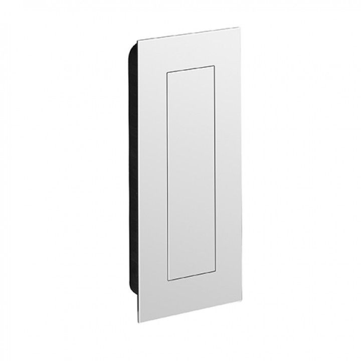 Flush handle with spring cover - POLISHED