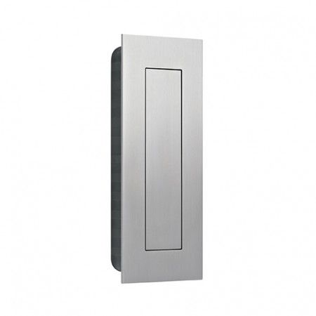 Flush handle with spring cover