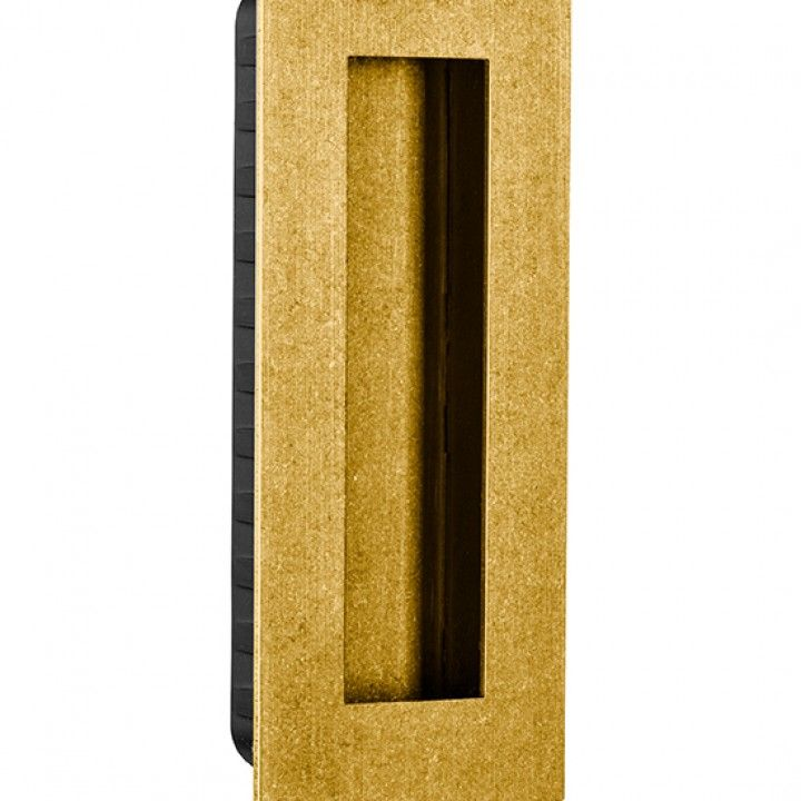 Rectangular Flush handle - 135 x 55mm -Raw Gold