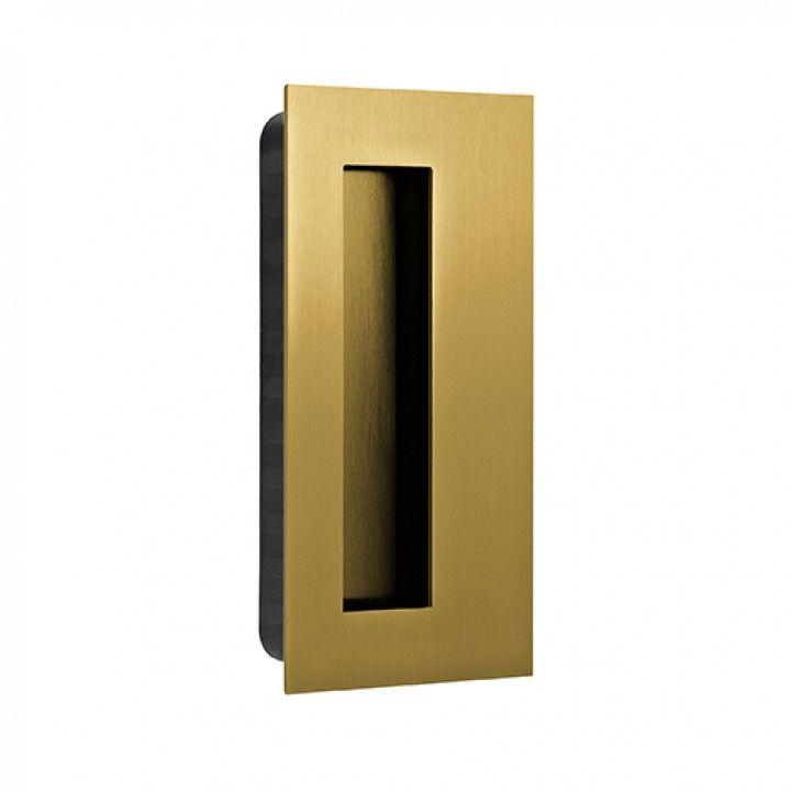 Rectangular Flush handle - 135x70mm - Titanium Gold