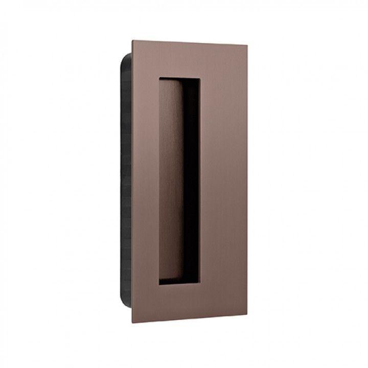 Rectangular Flush handle - 135x70mm - Titanium Chocolate