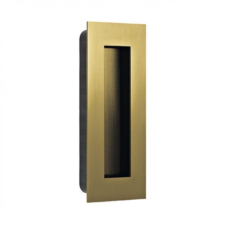 Rectangular Flush handle - 135x55mm - Titanium Gold