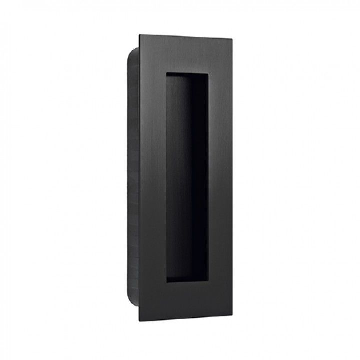 Rectangular Flush handle - 135x55mm - Titanium Black