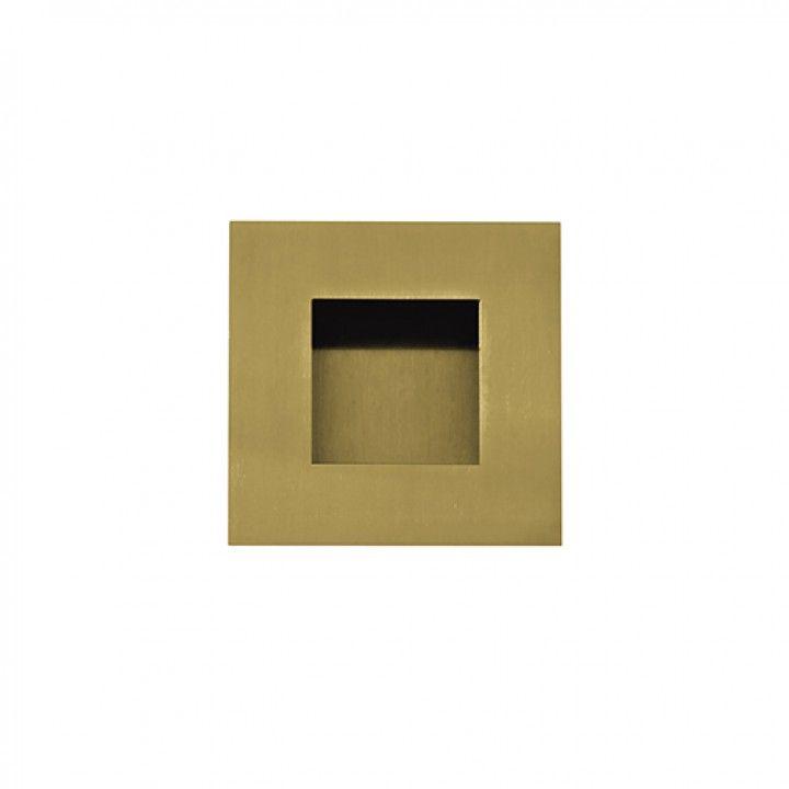 Square Flush handle - 60x60mm - Titanium Gold