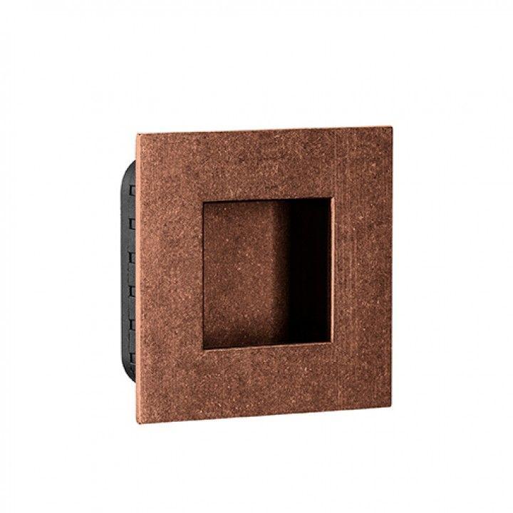 Square Flush handle - 60 x 60mm -Raw Copper