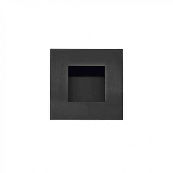 Square Flush handle - 60x60mm - Titanium Black