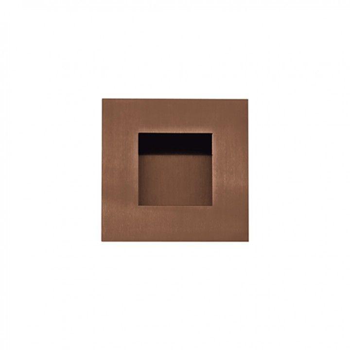 Square Flush handle - 60x60mm - Titanium Copper