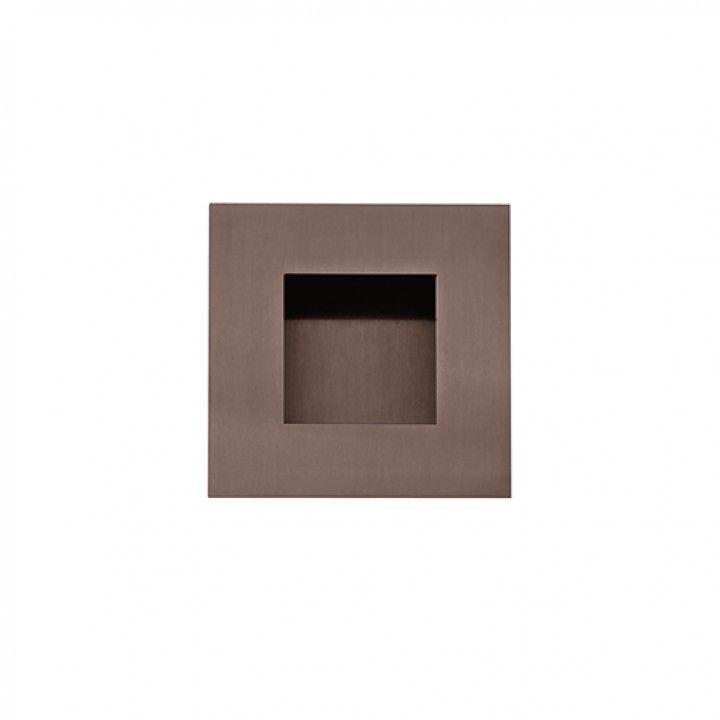 Square Flush handle - 60x60mm - Titanium Chocolate