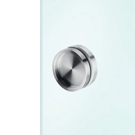 Round flush handle to stich in the glass - Ø65mm