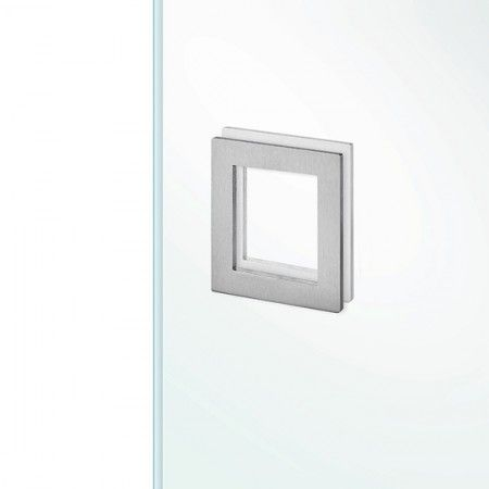 Square flush handle to stich in the glass - 90 x 90mm