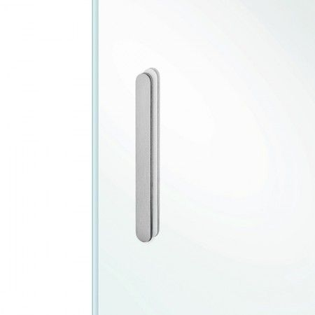 Oval flush handle to stich in the glass - 150 x 15mm
