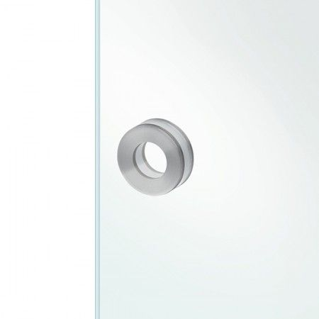 Round flush handle to stich in the glass - Ø90mm