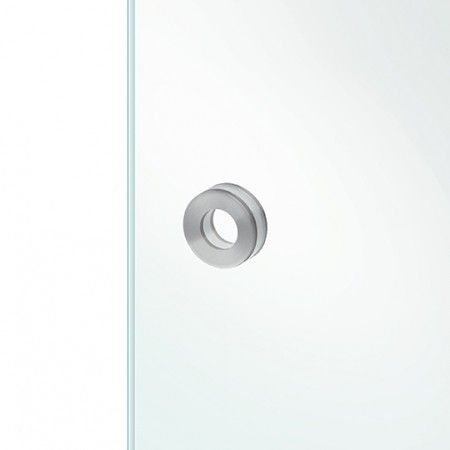 Square flush handle to stich in the glass - 60 x 60mm