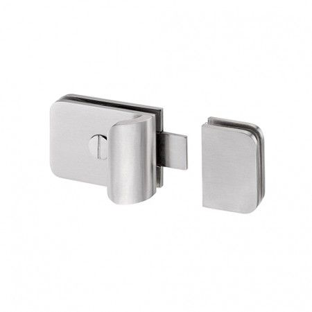 Latch without colour indication for glass doors - Strike box for glass included