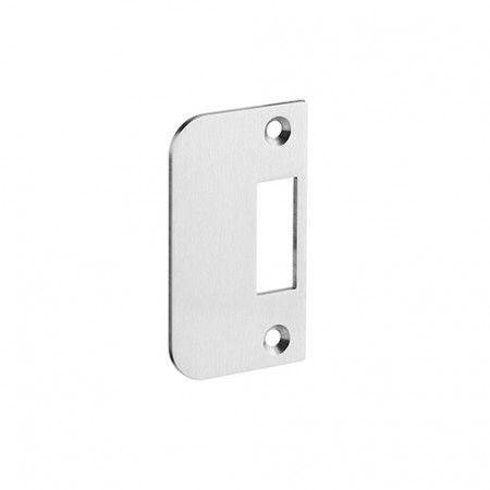 Reversible strike plate to apply in the door frame
