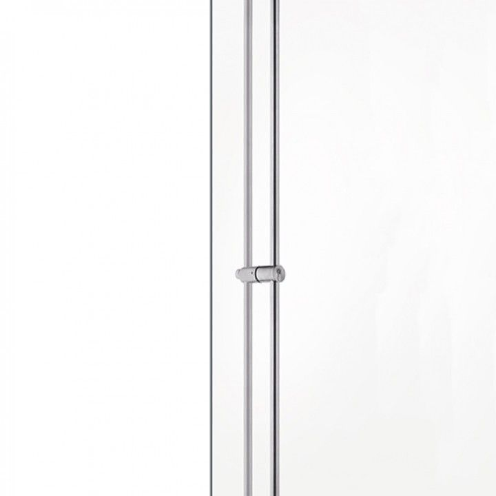 Pull handle with lock for glass doors - with cylinder JNF S20