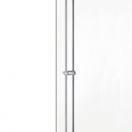Pull handle with lock for glass doors - with cylinder JNF S20 (special measure: 1800-2200mm)