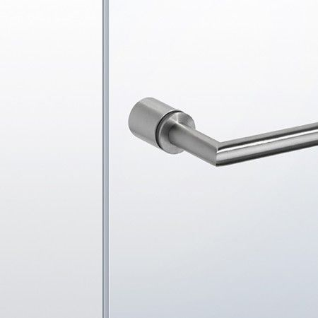 Kit with bases and handle for the shower door