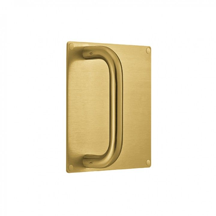 Plate 180 x 180mm with handle - Ø19mm - Titanium Gold