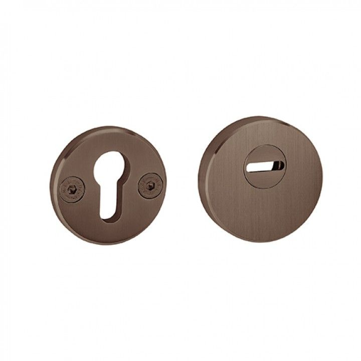 Ajustable and solid security protection rose for european cylinder +15mm - SKG - Titanium Chocolate