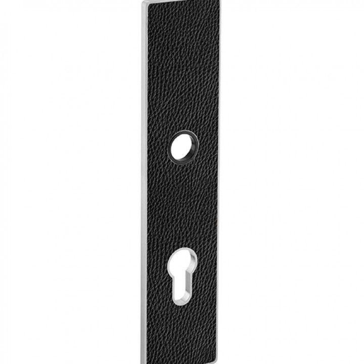 Plate ART PLATE - Black leather