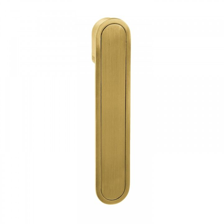 Oval Flush handle - Titanium Gold