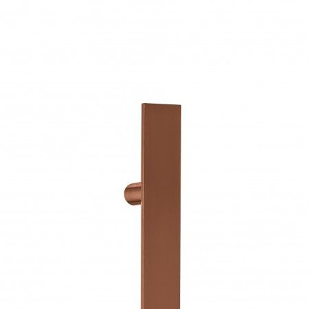 Pull handle Square - 400mm Titanium Copper