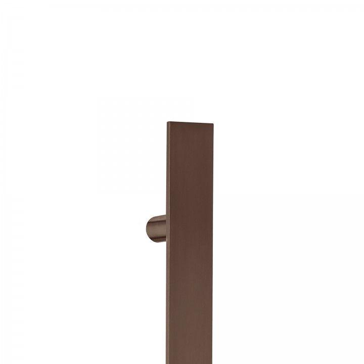 Pull handle Square - 400mm Titanium Chocolate