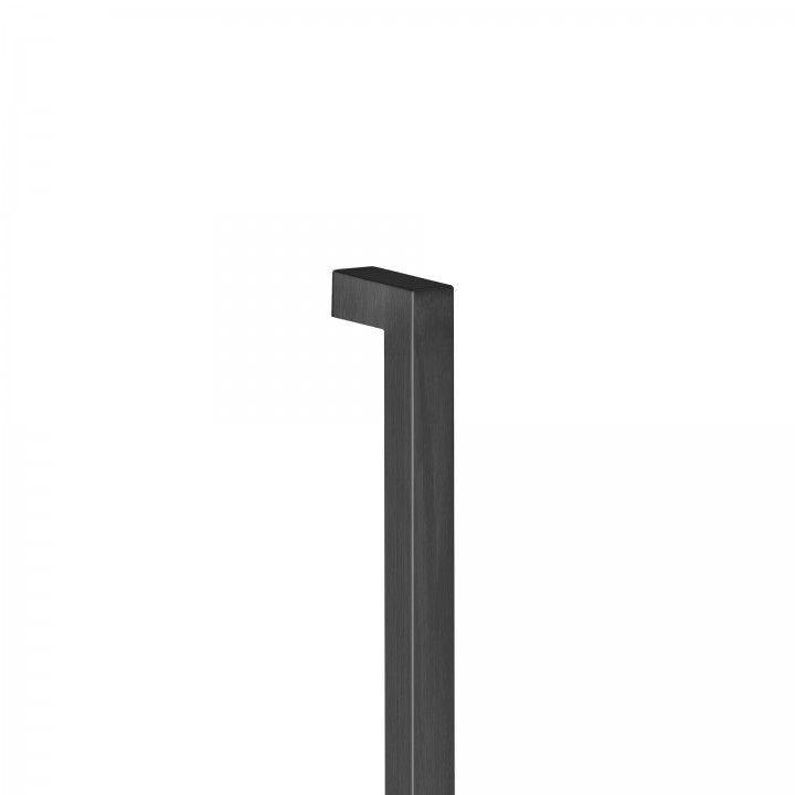 Manillon de puerta Quadro - 25x25mm  - Titanium Black