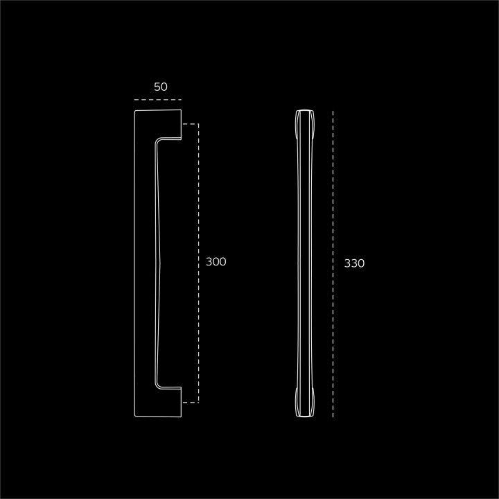 Pull handle Metric - 300mm - Titanium Chocolate