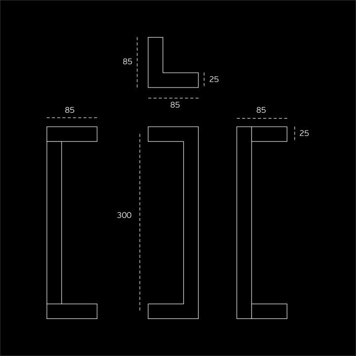 Pull handle - Titanium Black