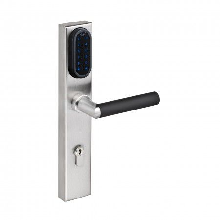 Electronic lock with number keypad for european cylinder