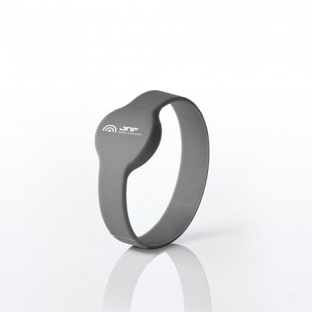 Silicone bracelet with chip - Gray