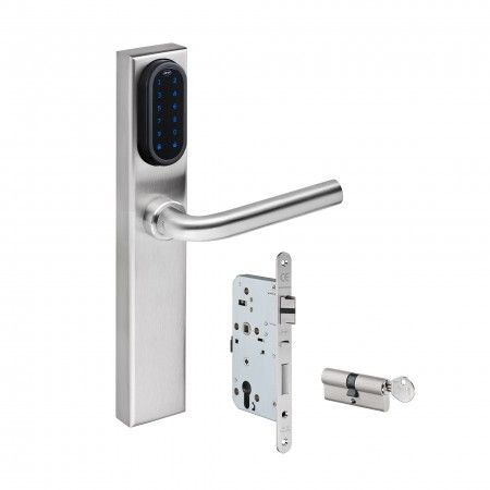 Electronic lock set with IN.27.107 + IN.00.028.SR + IN.20.601.R and IN.19.523.60mm